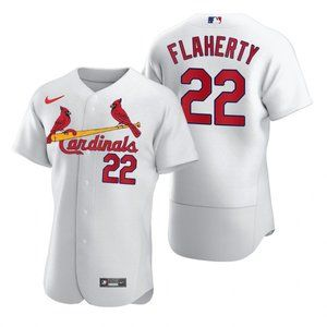 St. Louis Cardinals #22 Jack Flaherty White Jersey